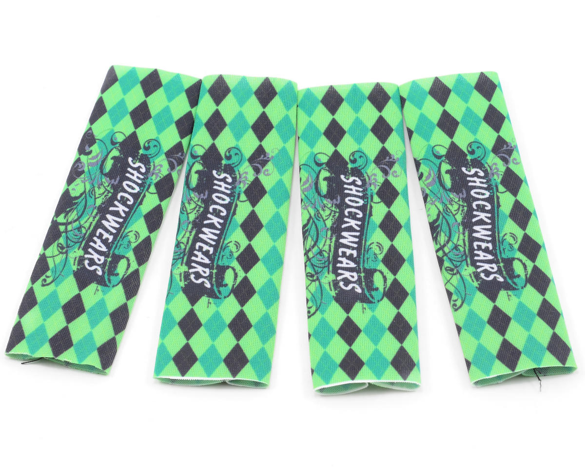 Outerwears Shockwares Argyle Evolution Big Bore Shock Covers (4) (Light Green)