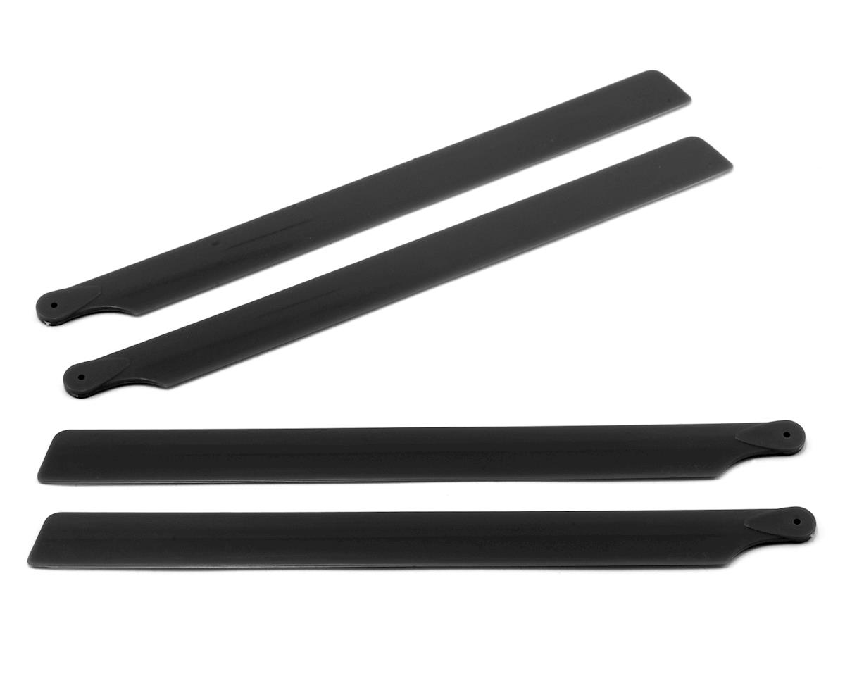 Carbon Plastic Main Blade 210mm (Black) (2) by OXY Heli