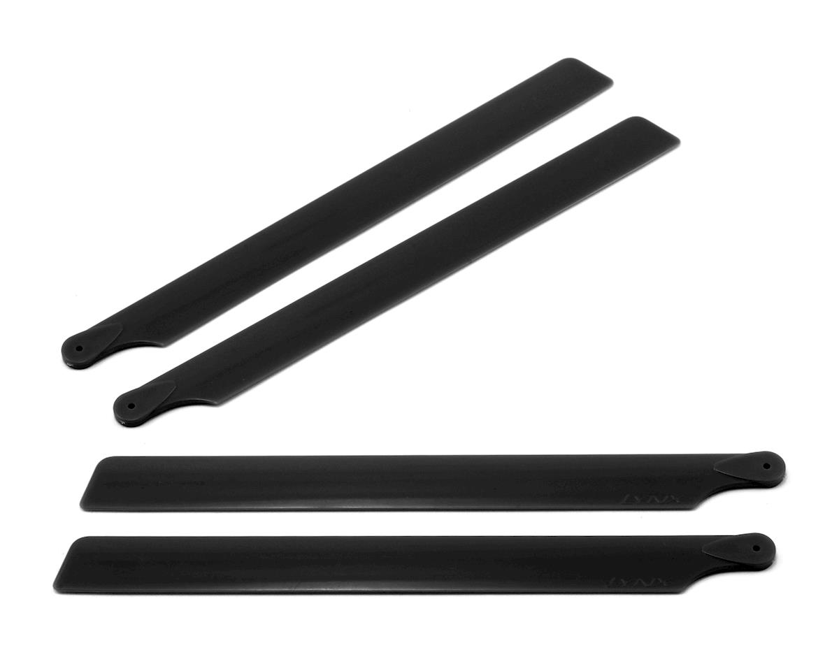 190mm Carbon Plastic Main Blades (Black) (2 Sets) by OXY Heli