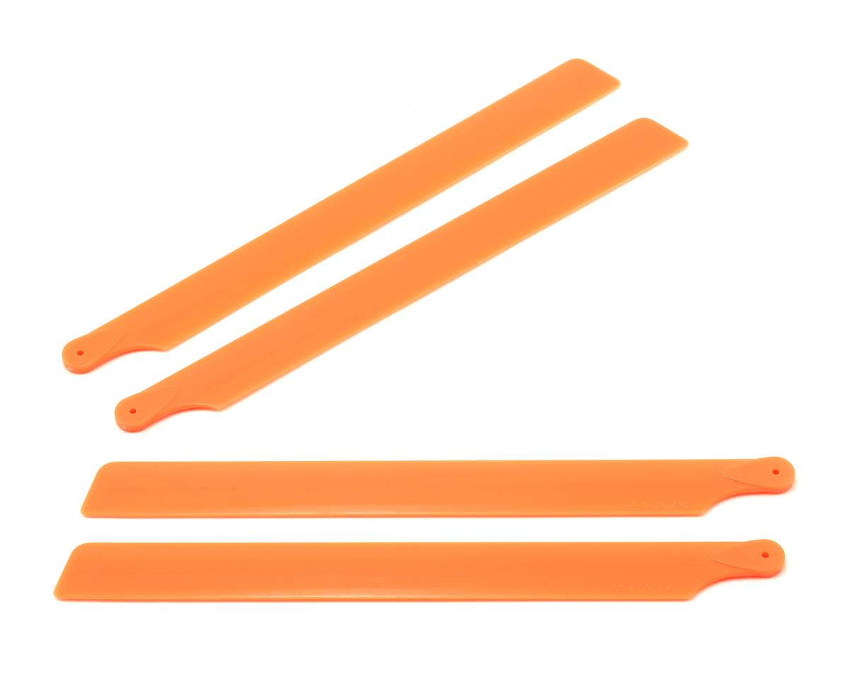 OXY Heli 190mm Carbon Plastic Main Blades (Orange) (2 Sets)
