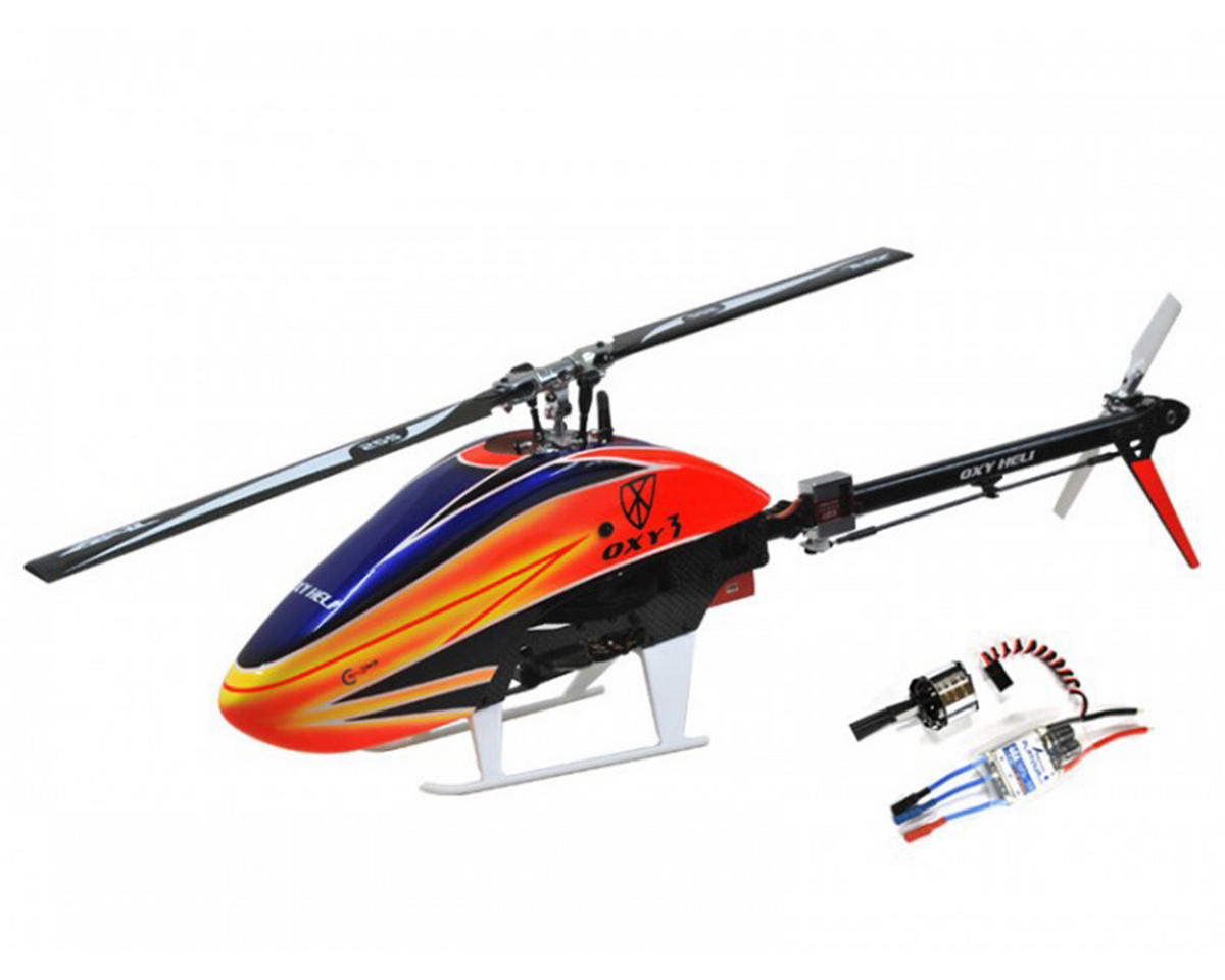 Oxy Heli Oxy 3 Flybarless Electric Helicopter Kit W Motor