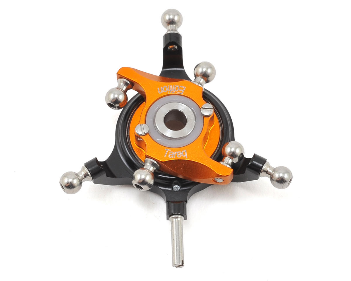 Oxy 3 Tareq Edition Ultra Swashplate (Black/Orange) by OXY Heli