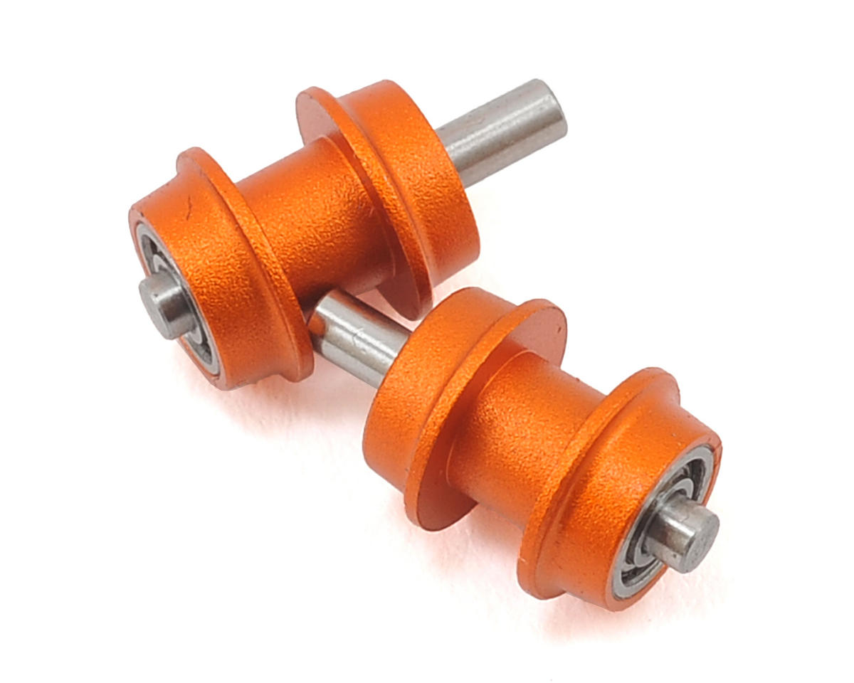 Oxy 3 Tareq Edition Aluminum Belt Pulley Guide (Orange) by OXY Heli