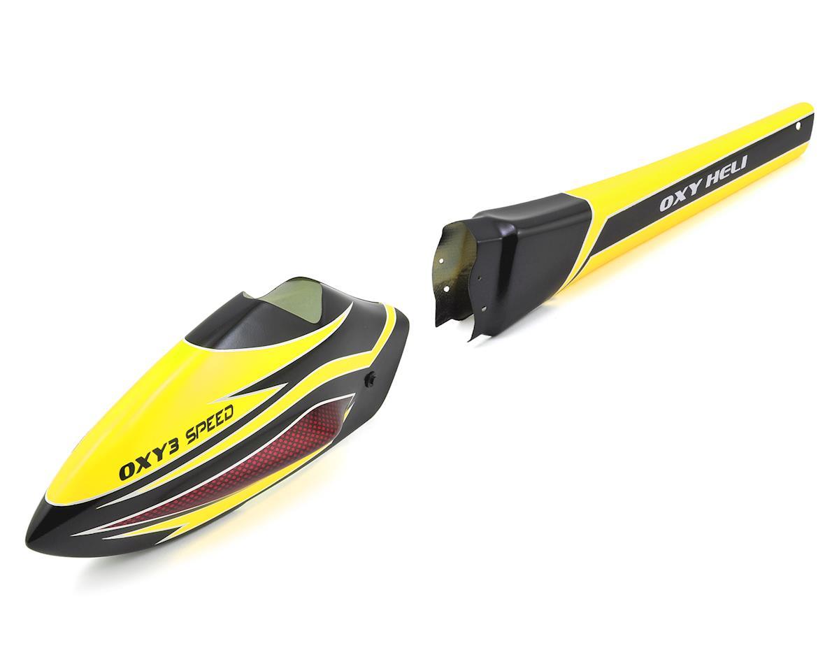 OXY Heli Oxy 3 Speed Fuselage (Yellow) (Oxy 3)