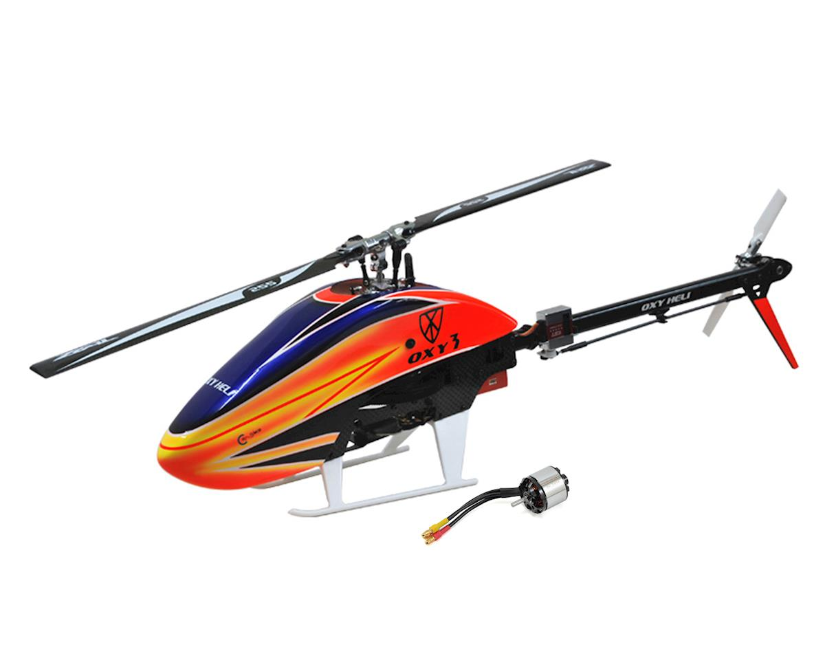 Oxy 3 Flybarless Electric Helicopter Kit & Lynx 2214-4100 Combo