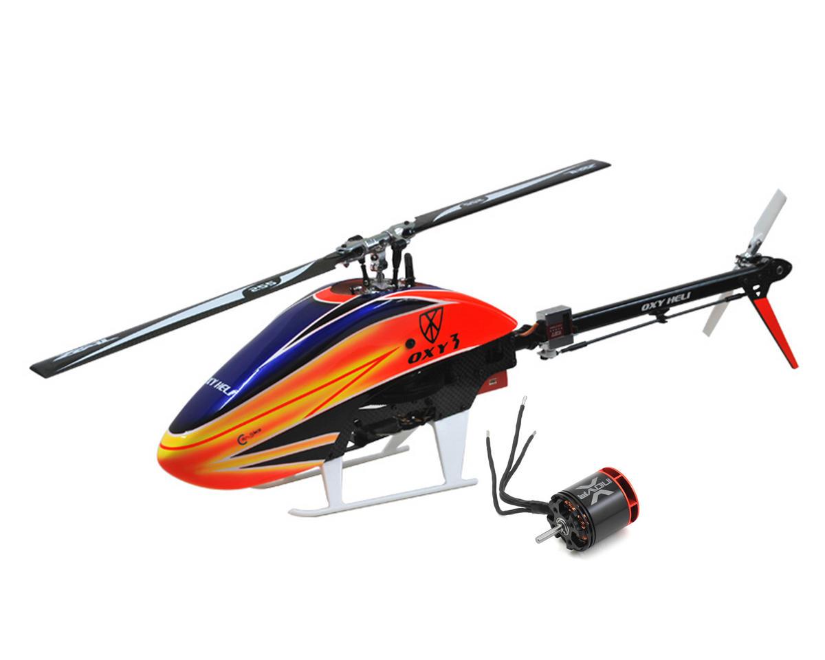 OXY Heli Oxy 3 Flybarless Electric Helicopter Kit & Xnova XTS2216-4100KV Combo