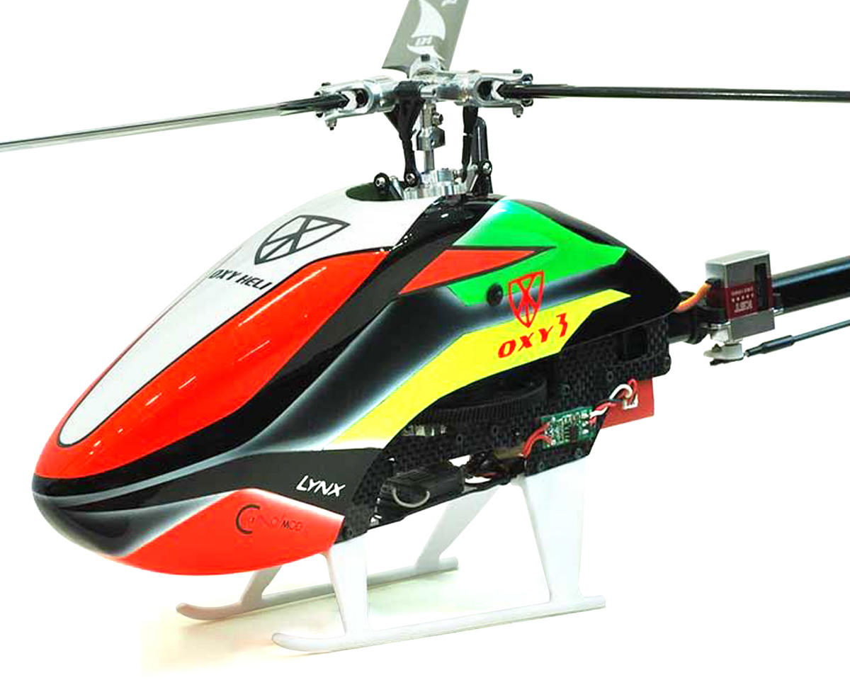 "Oxy 3 ""Qube"" 3-Blade Head Flybarless Electric Helicopter Kit"