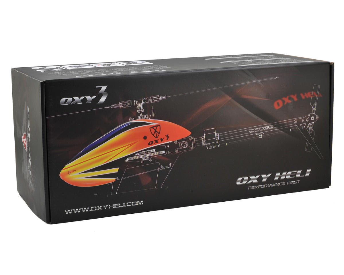 "OXY Heli Oxy 3 ""Qube"" 3-Blade Head Flybarless Electric Helicopter Kit"