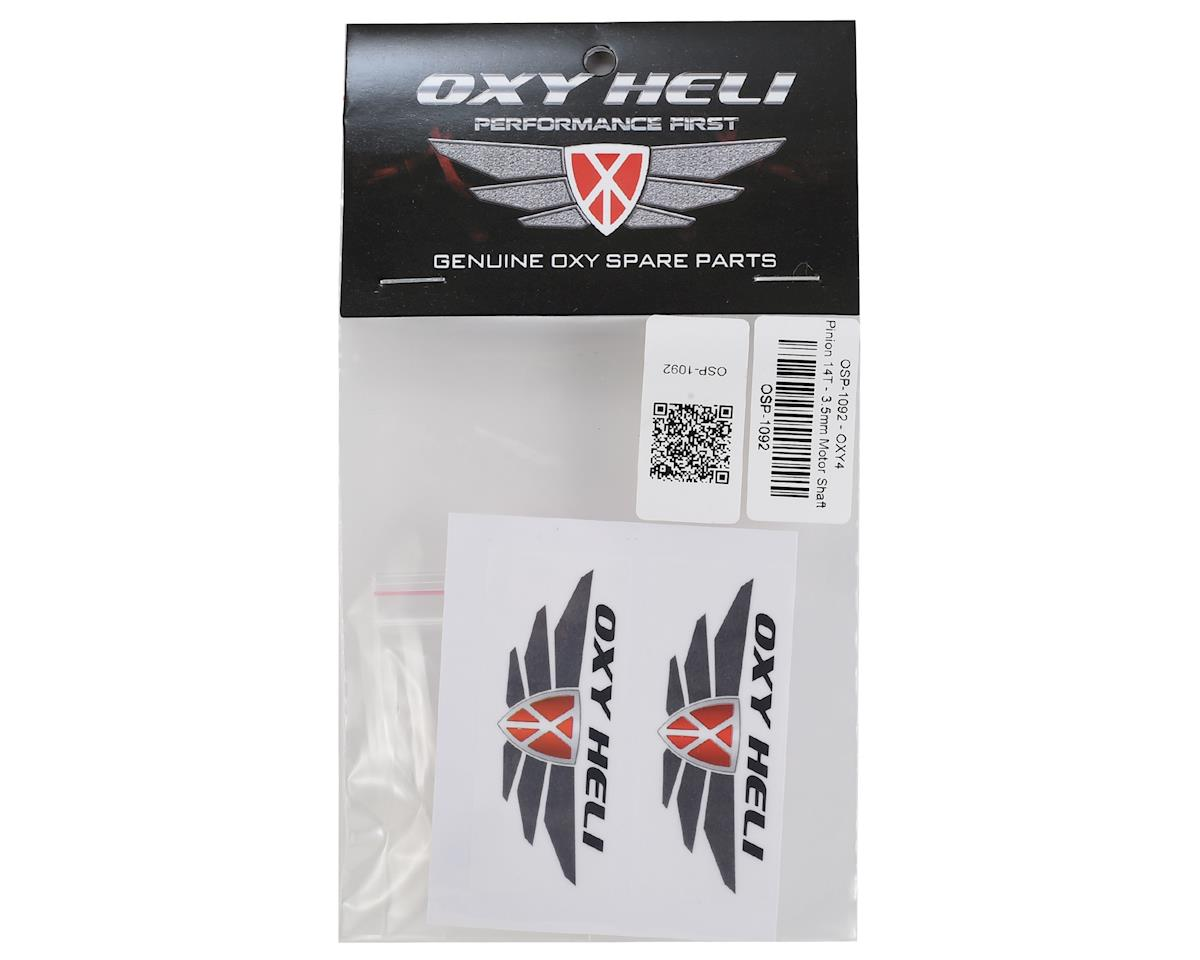 OXY Heli Helical Pinion 14T 3.5mm Motor Shaft (Oxy 4)