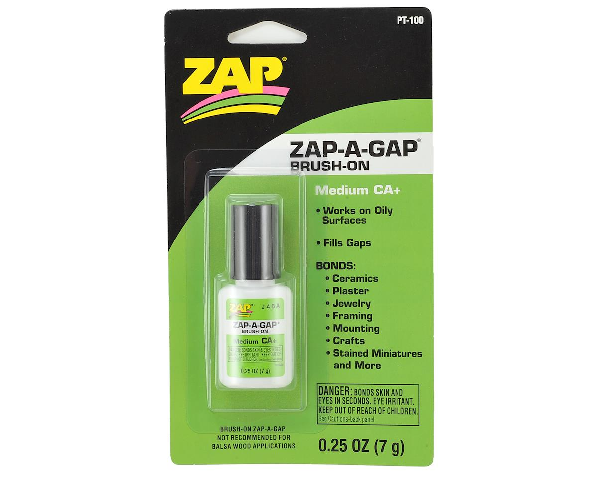 Zap-A-Gap CA+ Glue w/Brush Applicator (Medium) (0.25oz) by Pacer Technology