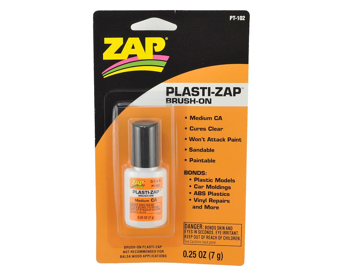 Pacer Technology Plasti-Zap CA Glue w/Brush Applicator (Medium) (0.25oz)