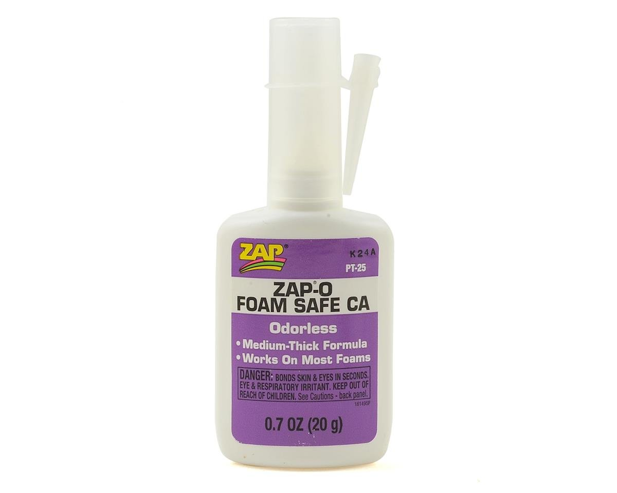 Zap-O Odorless Foam Safe CA Glue (0.7oz) by Pacer Technology