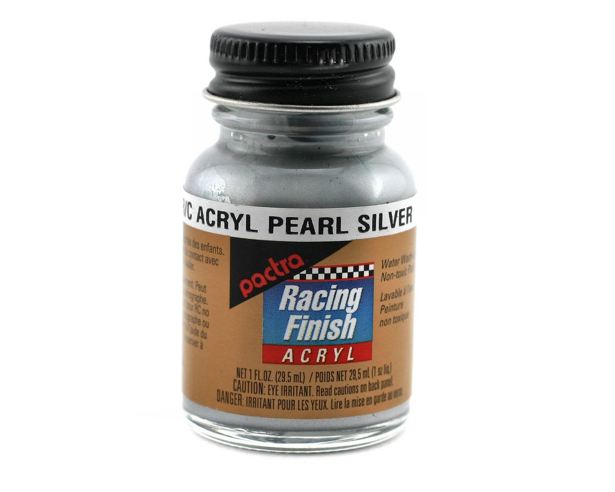 Pactra Pearl Silver Acrylic Paint (1oz)
