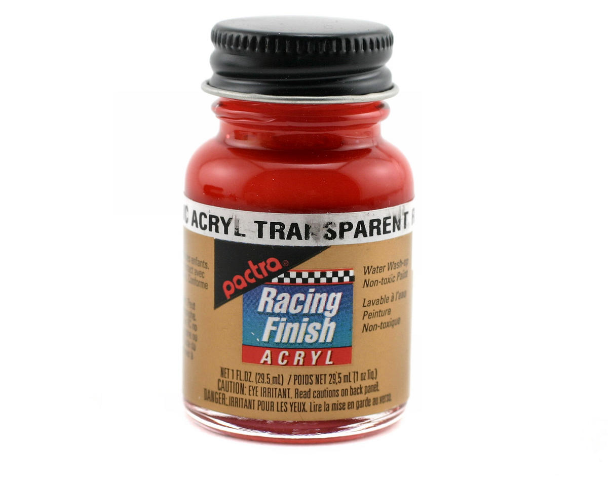 Pactra Transparent Red Acrylic Paint (1oz)