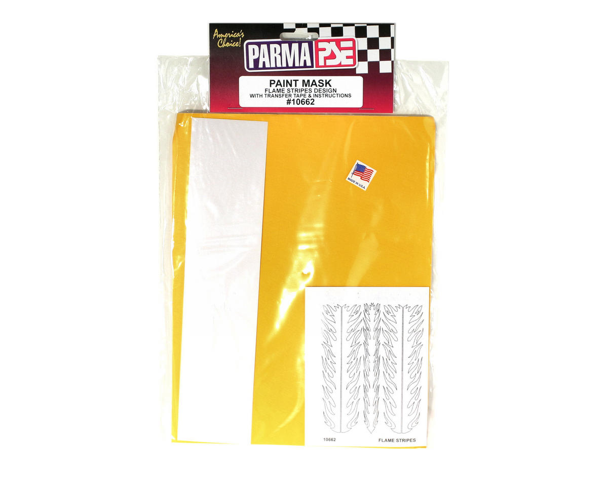 Parma PSE Pre-Cut Paint Mask, Flame Stripes Design