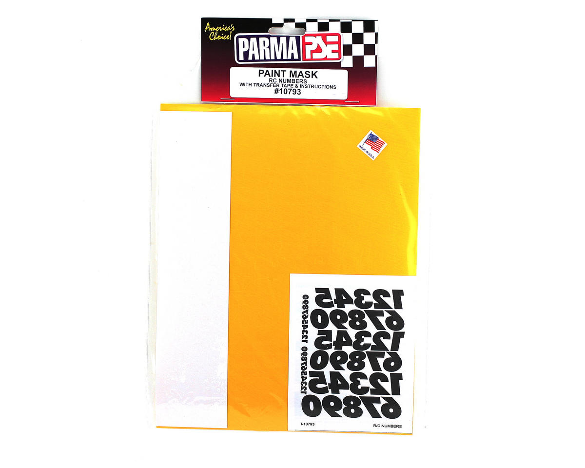 Parma PSE Pre-Cut Paint Mask, RC Numbers
