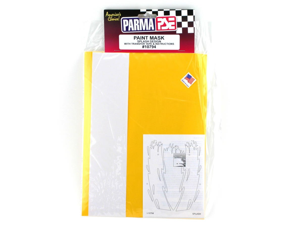 Parma PSE Pre-Cut Paint Mask, Splash Design