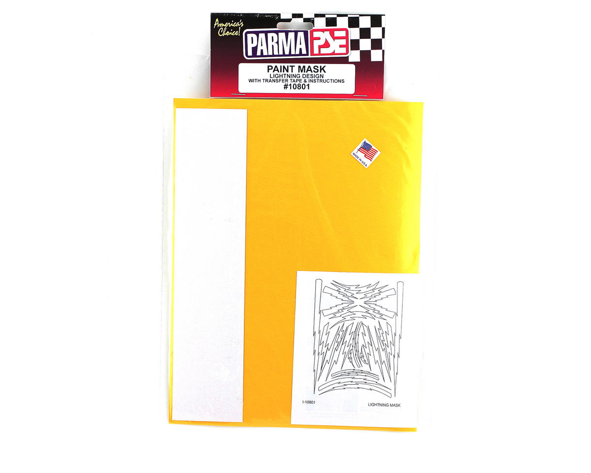 Parma PSE Pre-Cut Paint Mask, Lightning Bolts Design