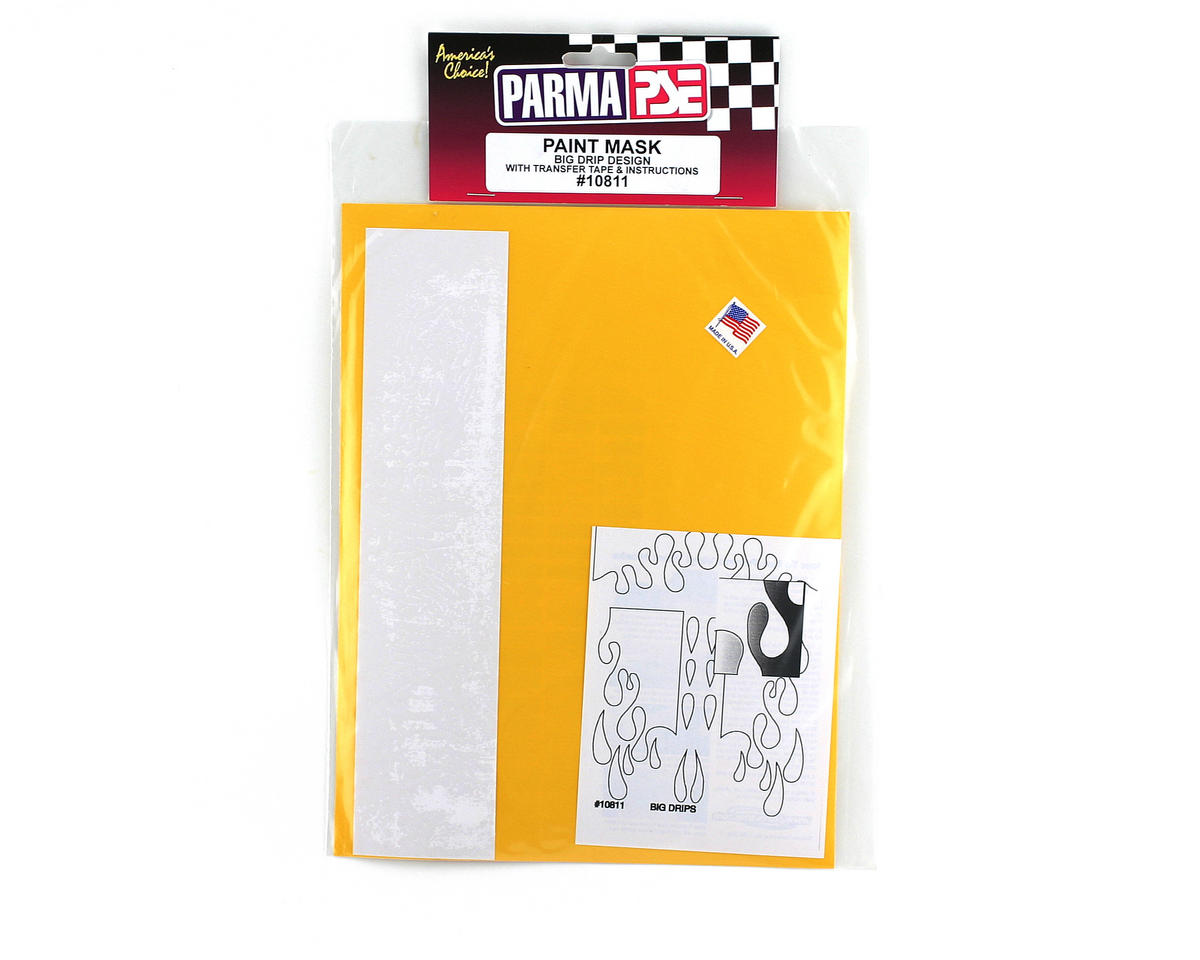 Parma PSE Pre-Cut Paint Mask, Big Drip Design