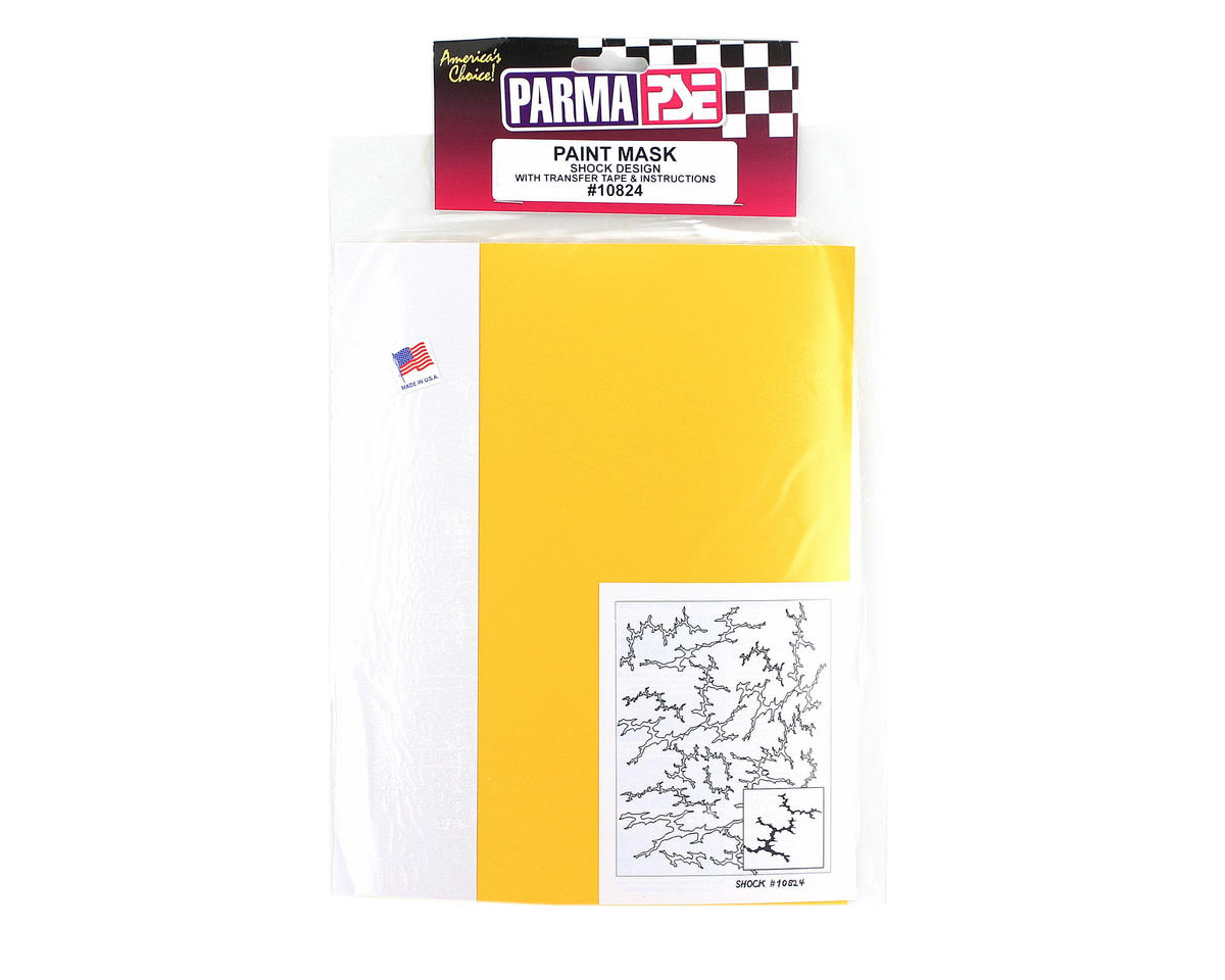 Parma PSE Pre-Cut Paint Mask, Shock Design