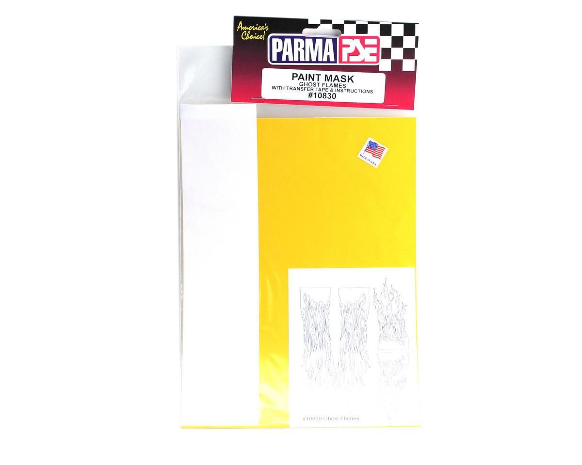 Parma PSE Pre-Cut Paint Mask, Ghost Flames Design