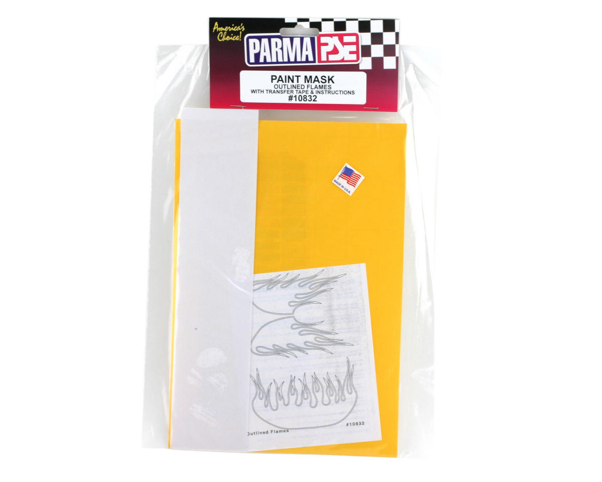 Parma PSE Pre-Cut Paint Mask, Outlined Flames Design