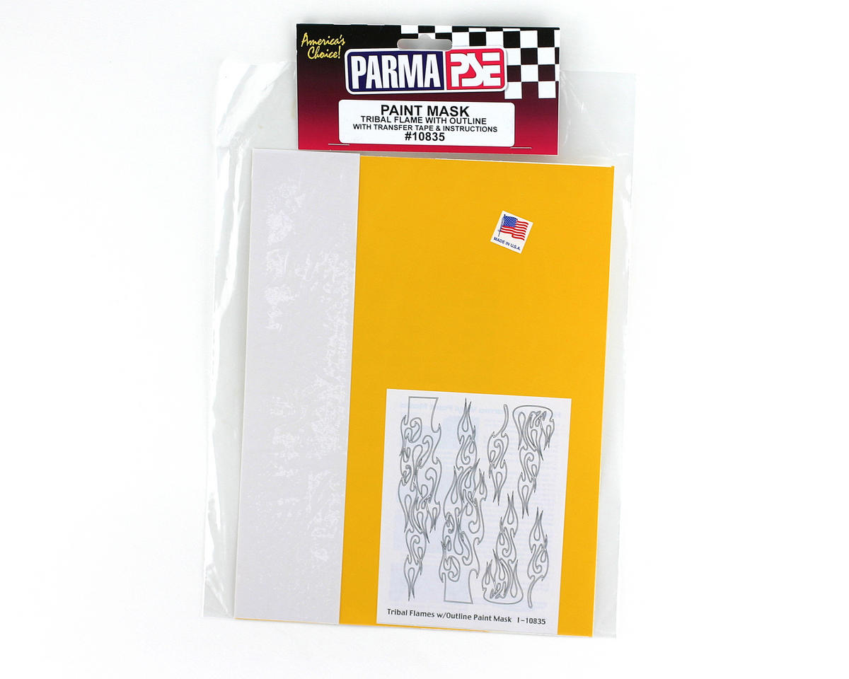 Parma PSE Pre-Cut Paint Mask, Tribal Flames w/Outlines Design