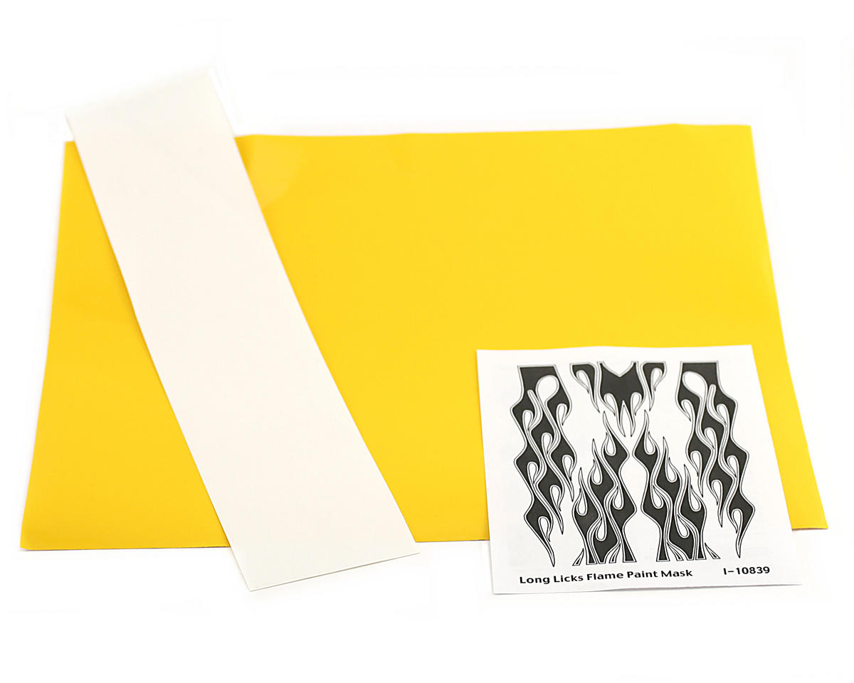 Parma PSE Pre-Cut Paint Mask, Long Licks Flame Design