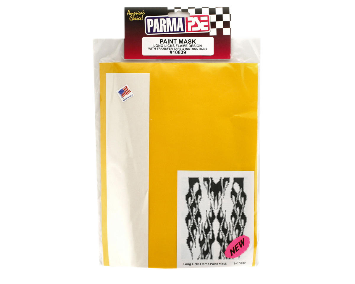 Parma PSE Pre-Cut Paint Mask, Long Licks Flame Design