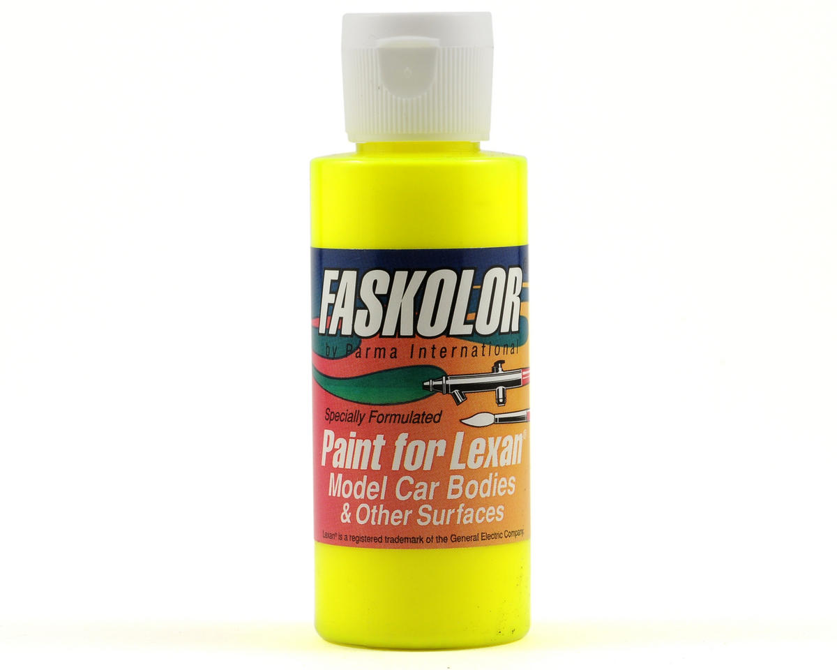 FasFluorescent Yellow Faskolor Lexan Body Paint (2oz) by Parma PSE