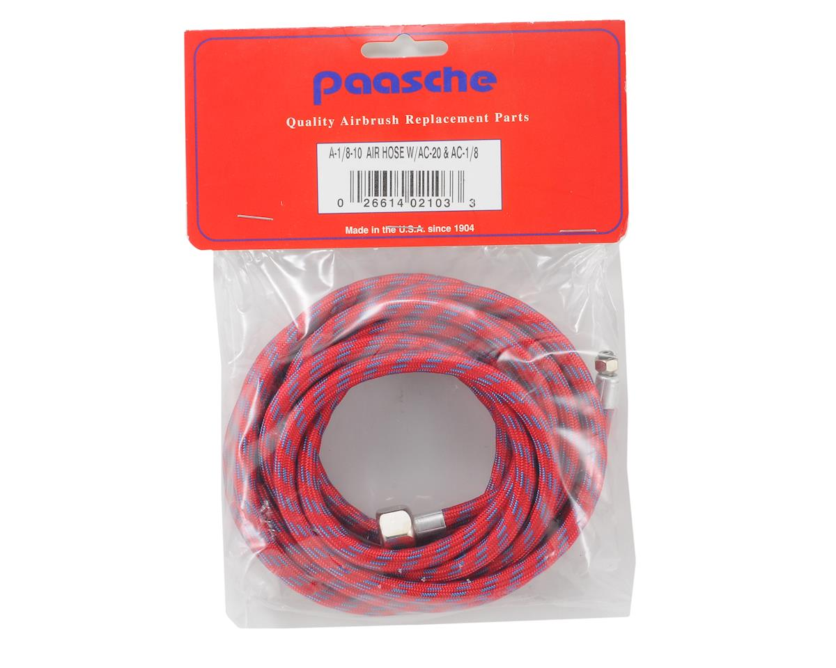 Paasche Braided Air Hose w/Coupling (10')