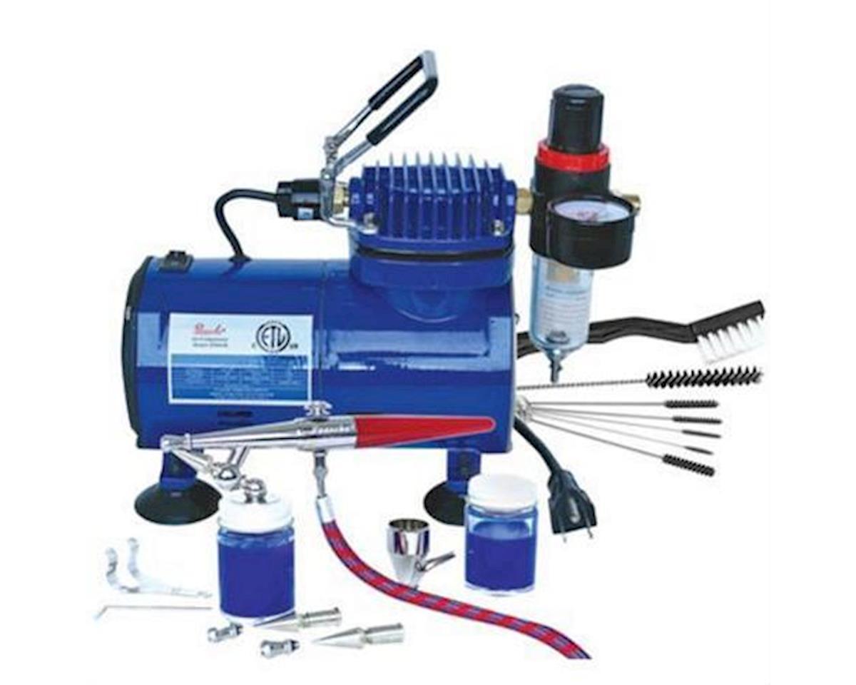 Paasche Airbrush & Compressor Package :HSET, D500SR, & AC7