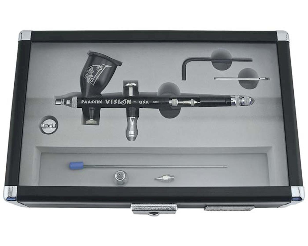 Paasche TGX-2F Vision Dbl Action Gravity Feed Airbrush Set