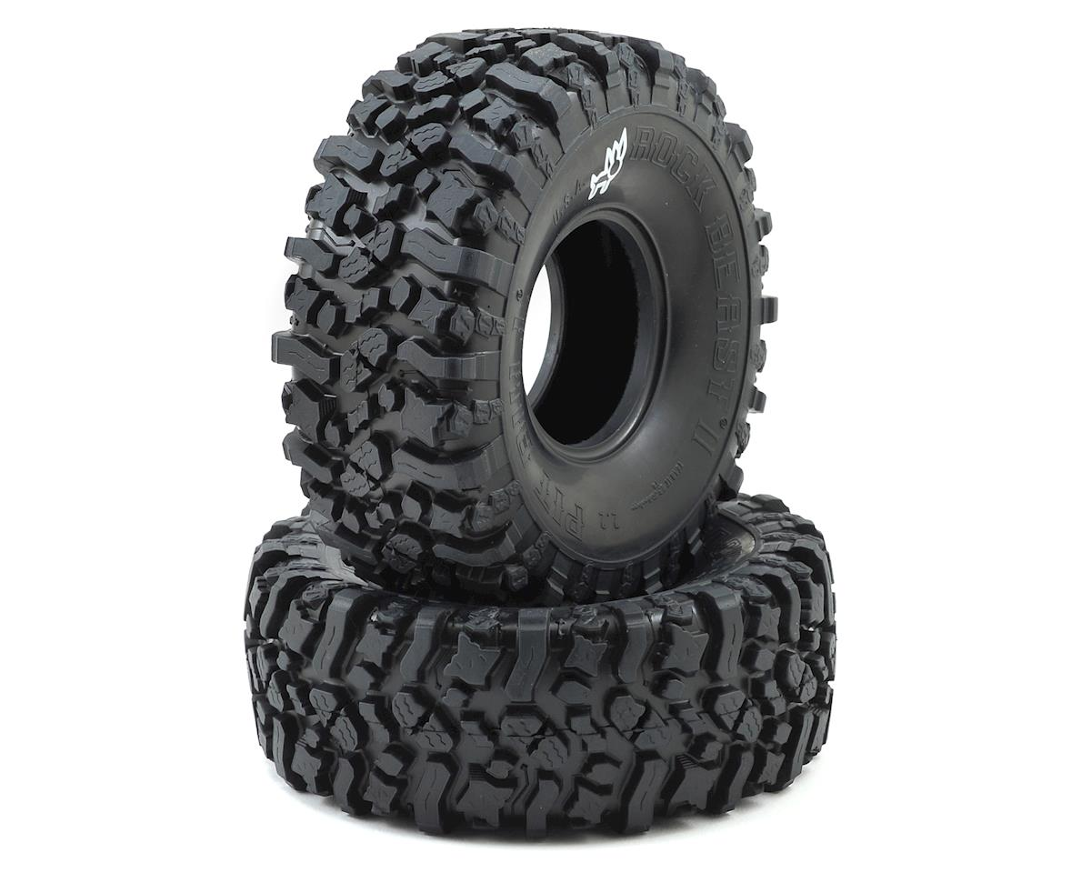 "Pit Bull Tires Rock Beast II 2.2"" Scale Rock Crawler Tires (2) (No Foam) (Alien)"