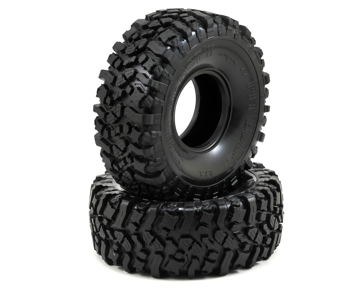 "Pit Bull Tires Rock Beast II 2.2"" Scale Rock Crawler Tires (2) (No Foam) (Komp)"