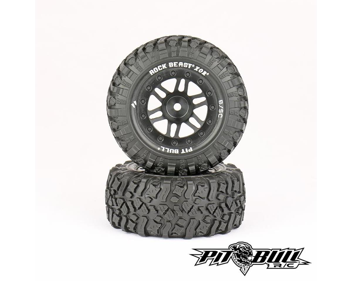 Rock Beast XOR 2.2/3.0 Premounted Short Course Tires (2) by Pit Bull Tires