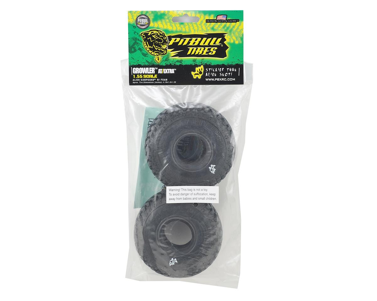 "Growler AT/Extra 1.55"" Scale Rock Crawler Tires (2) (Alien) by Pit Bull Tires"