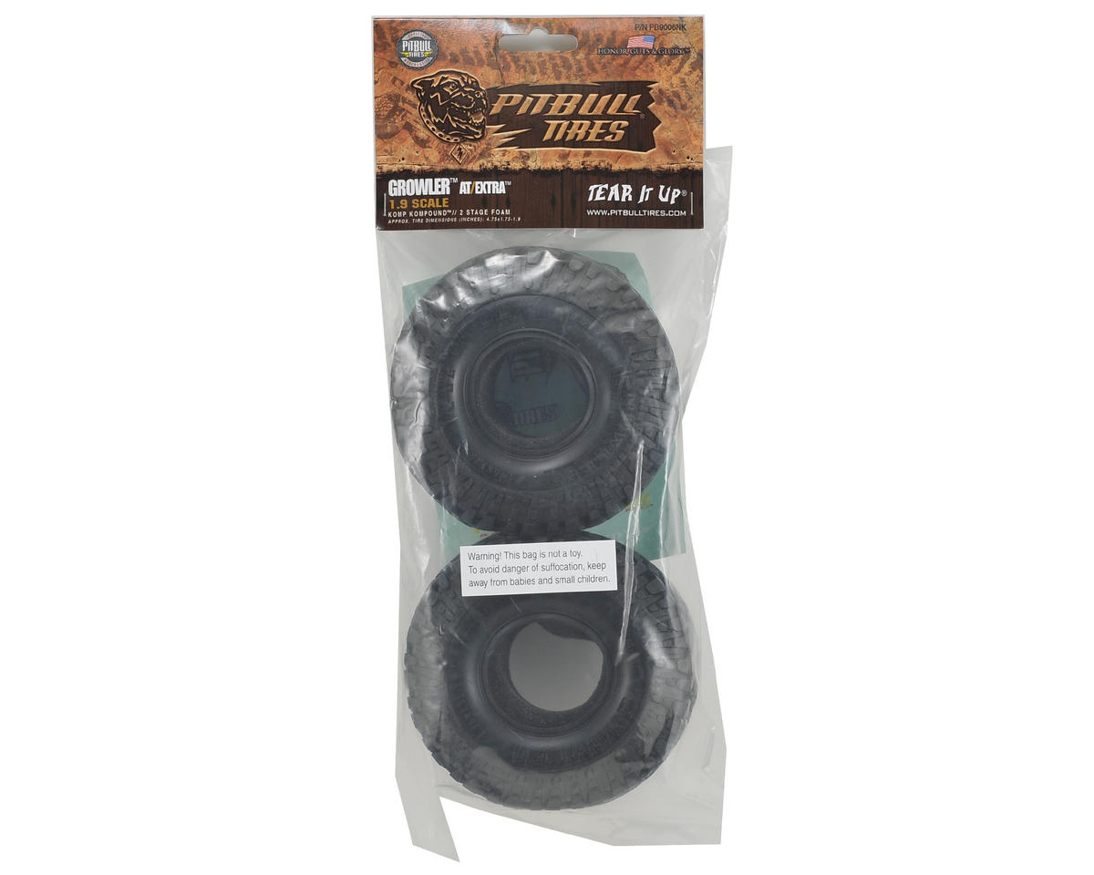 "Pit Bull Tires Growler AT/Extra 1.9"" Scale Rock Crawler Tires (2) (Komp)"