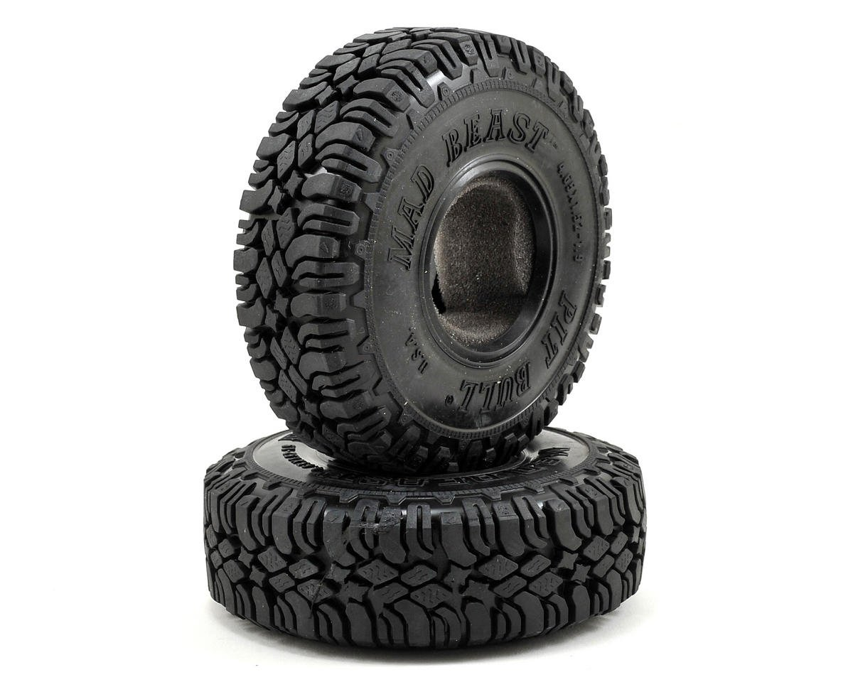 "Pit Bull Tires Mad Beast 1.9"" Scale Rock Crawler Tires (2) (Komp)"