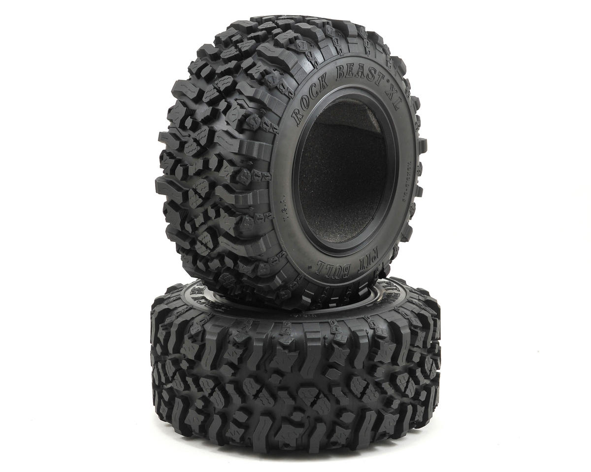 "Pit Bull Tires Rock Beast XL Scale 3.8"" Rock Crawler Tires (2) (Zuper Duper)"
