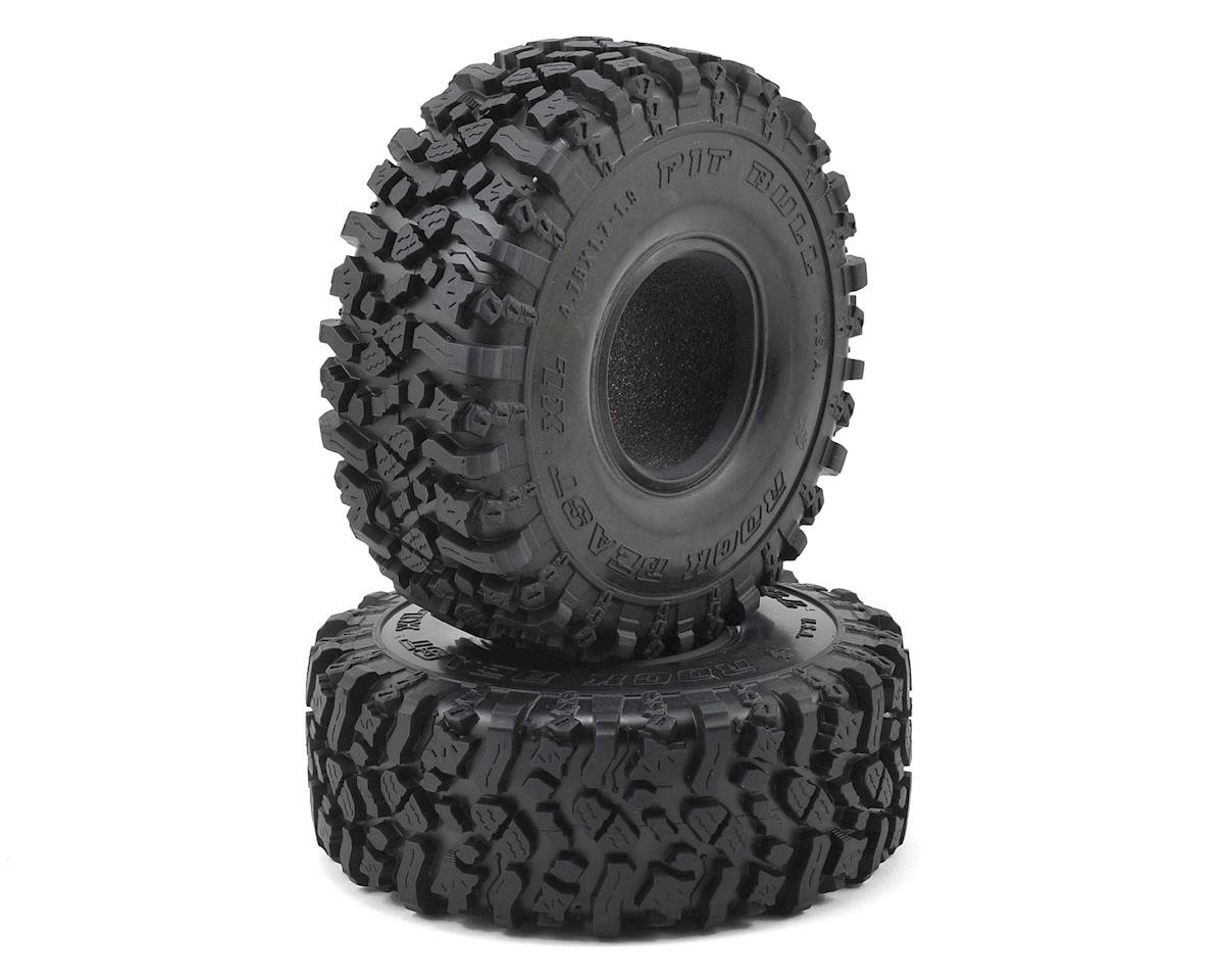"Pit Bull Tires 1.9"" Rock Beast XL Scale Rock Crawler Tires w/Foams (2)"