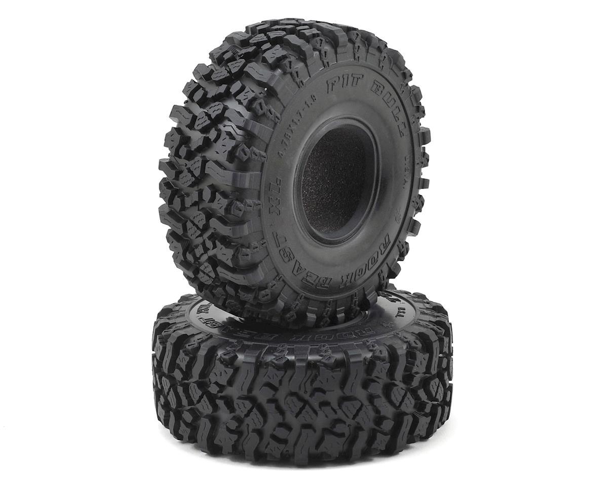 """Pit Bull Tires 1.9"""" Rock Beast XL Scale Rock Crawler Tires w/Foams (2) (Alien)"""