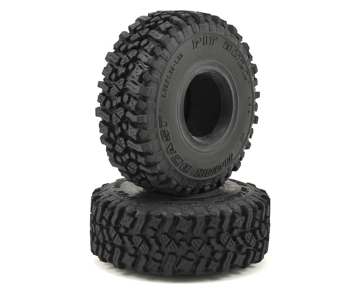"Pit Bull Tires Rock Beast 1.55"" Scale Rock Crawler Tires w/Foams (2) (Alien)"