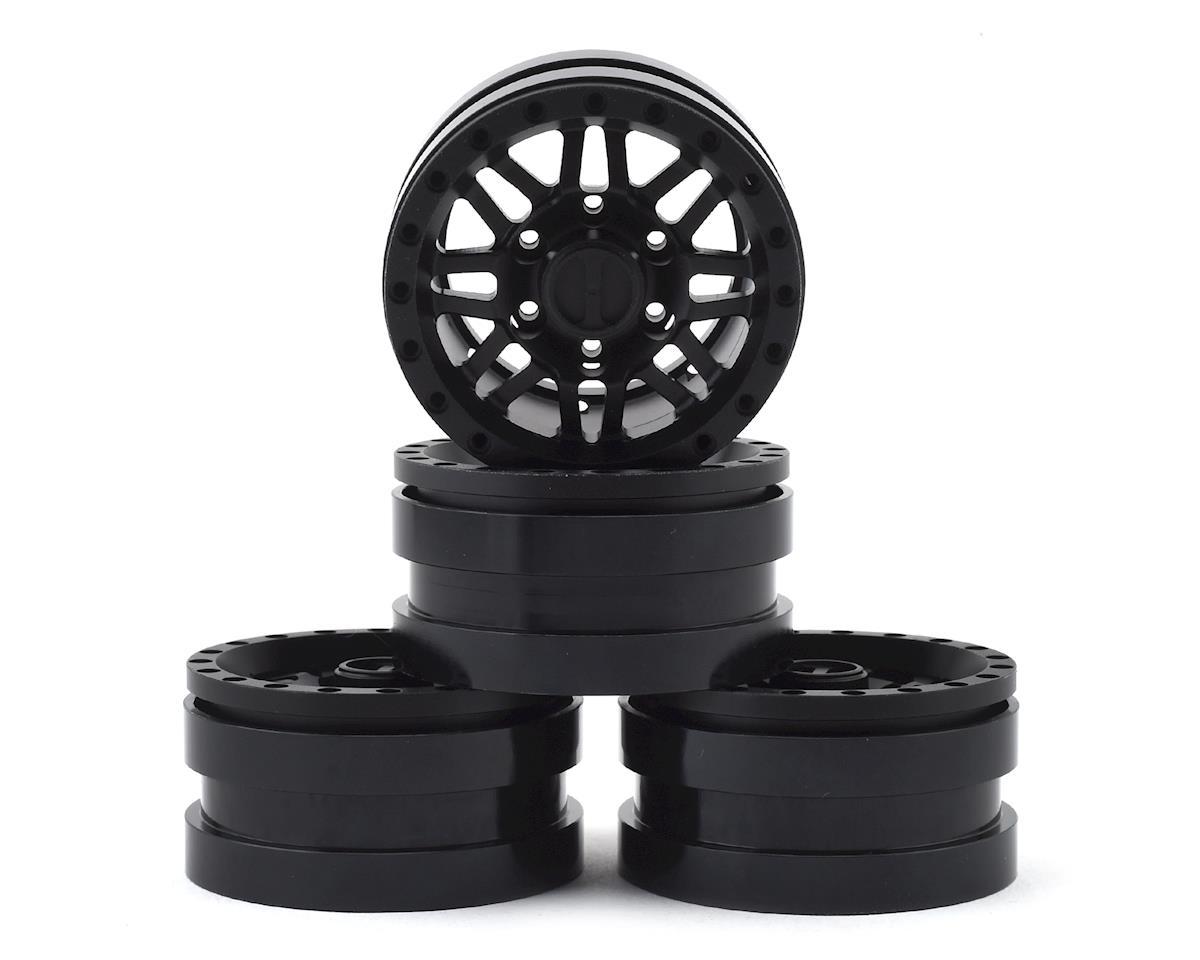 Pit Bull Tires Raceline Ryno 1.55 Aluminum Beadlock Crawler Wheels (Black) (4)