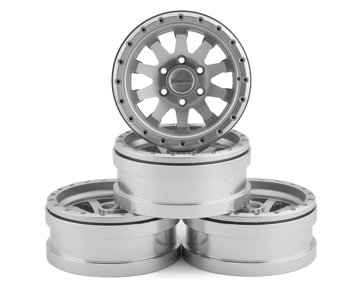 Pit Bull Tires Raceline Clutch 1.9 Aluminum Beadlock Wheels (Silver) (4) | relatedproducts