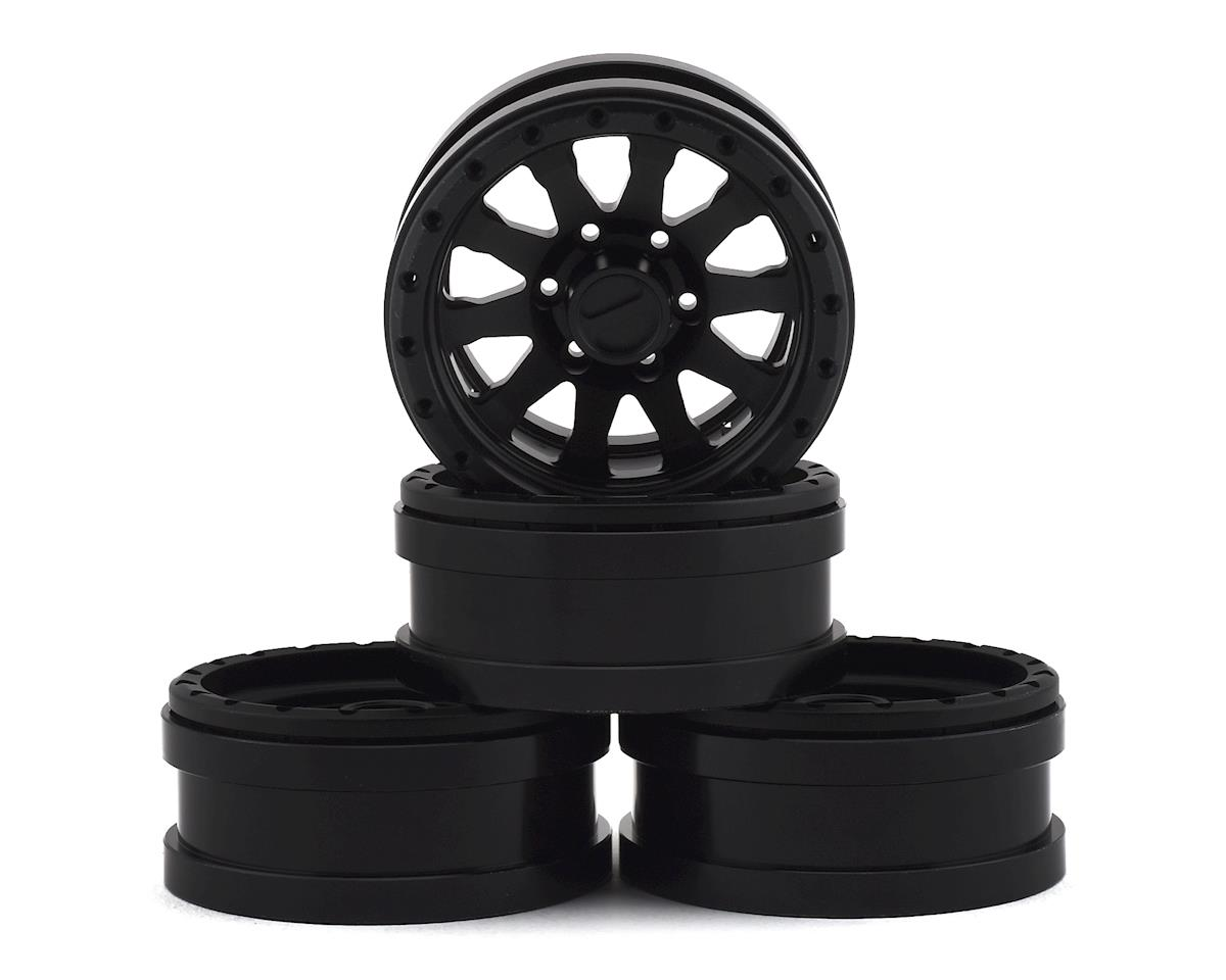 "Raceline Clutch 1.9"" Aluminum Beadlock Wheels (Black) (4)"