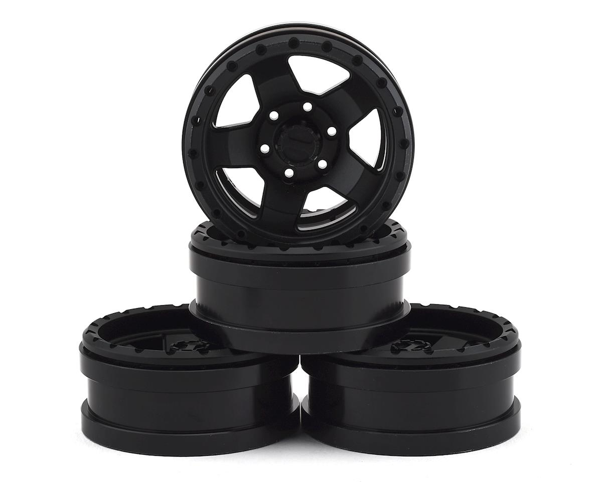 "Pit Bull Tires Raceline Combat 1.9"" Aluminum Beadlock Wheels (Black) (4)"