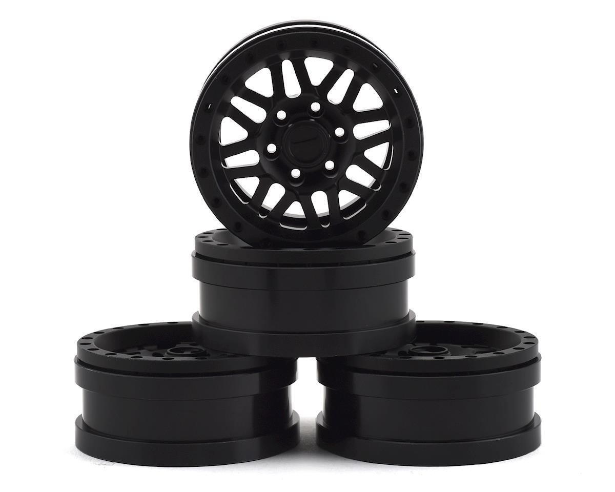 "Pit Bull Tires Raceline Ryno 1.9"" Aluminum Beadlock Wheels (Black) (4)"
