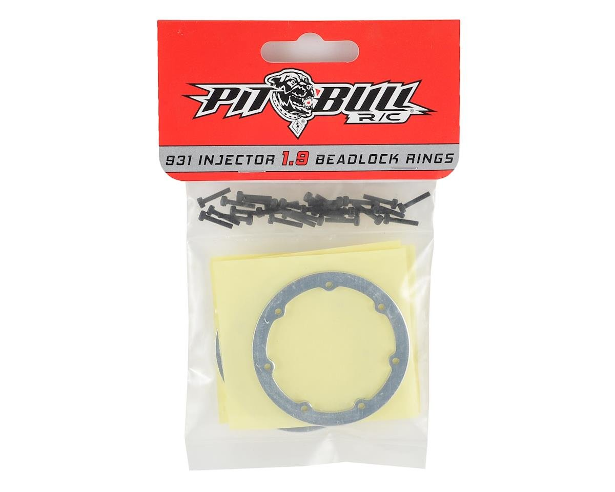 "Pit Bull Tires Raceline #931 Injector 1.9"" Beadlock Rings (4) (Chrome)"