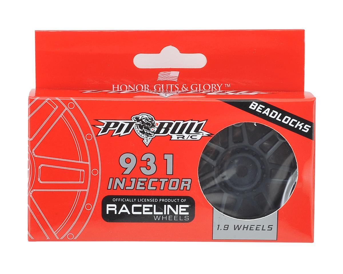 "Pit Bull Tires Raceline #931 Injector 1.9"" Beadlock Wheel (Black/Black) (2)"